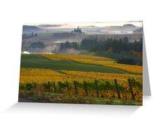 Yellow vineyard Greeting Card