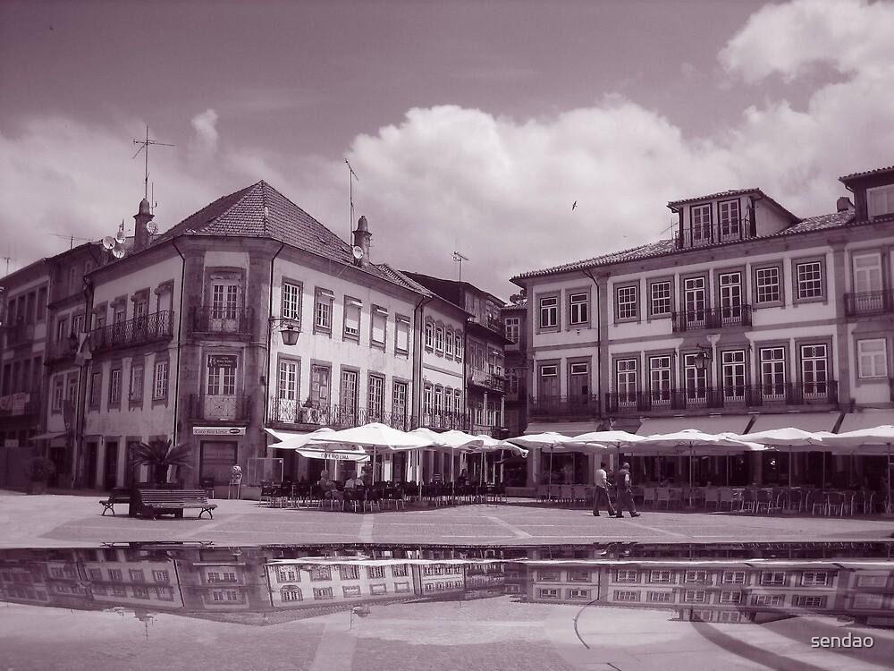 Off the fountain;......Ponte de Lima Village series!...  by sendao