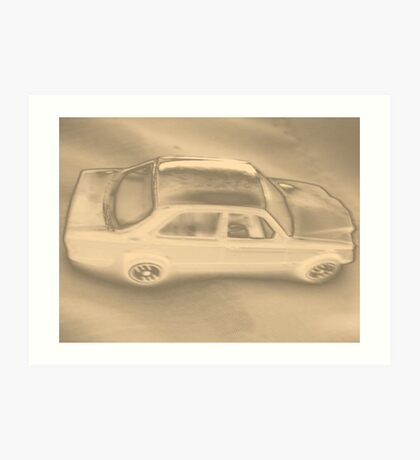 My son`s toy car!... Art Print
