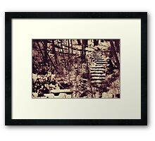 Snowy Stairs Framed Print