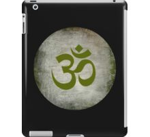 Om Ohm Namaste Yoga Circle  - Black Green iPad Case/Skin