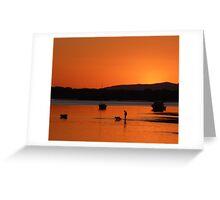 Sunset at Sylvan Beach - Bribie Island Greeting Card