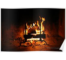 Fireplace | Old Bethpage, New York  Poster