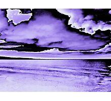 purple abstract Photographic Print