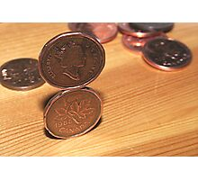 Canadian Penny Trick Photographic Print