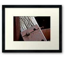 aged wood and steel Framed Print