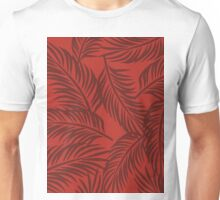 Red Palm Brigata Pattern Unisex T-Shirt