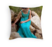 ....flower girl.... Throw Pillow