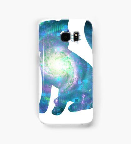Electric Galaxy | Fractal Space Kitty Samsung Galaxy Case/Skin