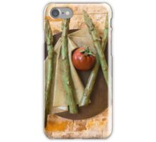 Asparagus and tomato iPhone Case/Skin