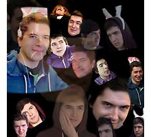 Aleks face collage Photographic Print