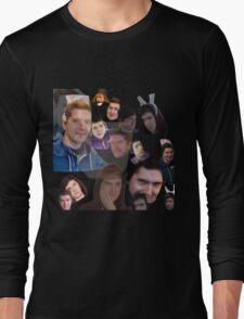 Aleks face collage Long Sleeve T-Shirt