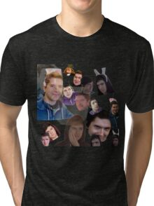 Aleks face collage Tri-blend T-Shirt