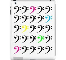 Colorful Bass Clef iPad Case/Skin
