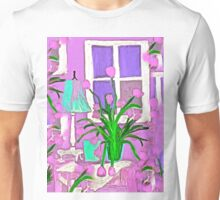 Pink Tulips for my Shabby Chic Home Unisex T-Shirt