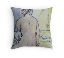 ACEO of the Valpincon bather by Ingres Throw Pillow