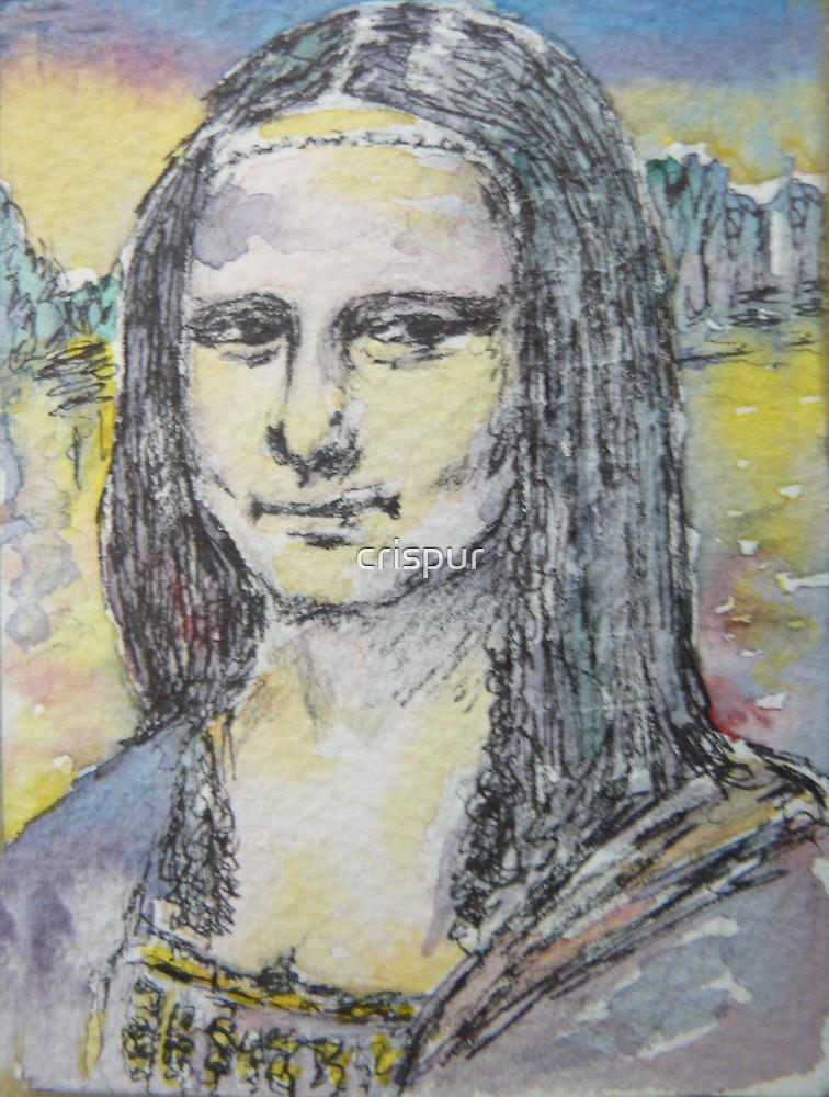 ACEO Mona Lisa by da Vinci by christine purtle