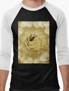Rose of White Men's Baseball ¾ T-Shirt