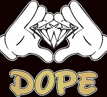 Diamond Mickey Gloves Dope Hands  by Bagus7