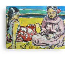 ACEO Paul Gauguin's 2 tahitian women Canvas Print