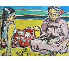 ACEO Paul Gauguin's 2 tahitian women Photographic Print