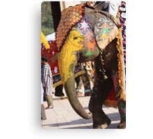 The Elephant with A Chase Canvas Print