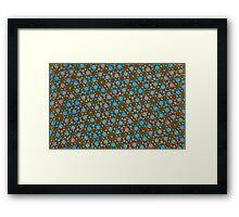 Silicon Atoms Blue Black Framed Print