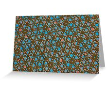Silicon Atoms Blue Black Greeting Card
