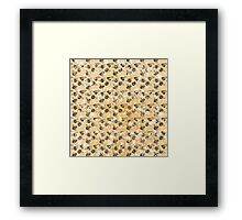Bees and Blooms:  Watercolor illustrated honeybee print Framed Print