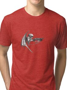 skulls and guns 1 Tri-blend T-Shirt