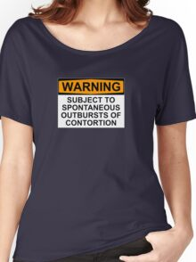 WARNING: SUBJECT TO SPONTANEOUS OUTBURSTS OF CONTORTION Women's Relaxed Fit T-Shirt