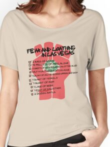 Fear and Loathing in Las Vegas checklist Women's Relaxed Fit T-Shirt