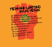 Fear and Loathing in Las Vegas checklist T-Shirt