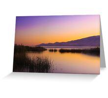 Sunset at Utah Lake Greeting Card