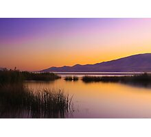 Sunset at Utah Lake Photographic Print