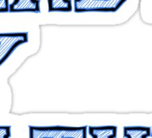 Nerdy By Nature (blue) Sticker
