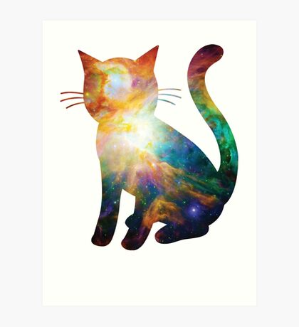Heart of Orion | Space Kitty Art Print