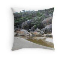 Amongst the rocks - Tidal River, Wilson's Prom. Throw Pillow