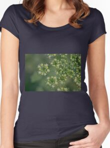 Parsley flowers Women's Fitted Scoop T-Shirt