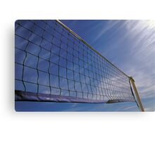 Volleyball Net Against Blue Cloudy Sky  Canvas Print