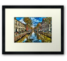 Amsterdam in Autumn Framed Print