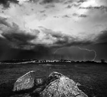 Lightning at the Rocks by Luka Skracic