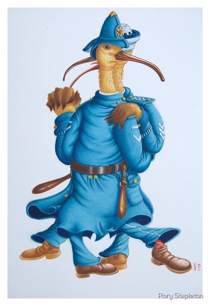 Tango in Blue (Watercolour on Bainbridge board) by Rory Stapleton