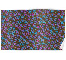 Silicon Atoms Blue Pink Black Poster