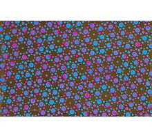 Silicon Atoms Blue Pink Black Photographic Print