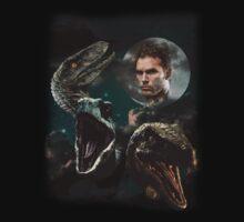 Three Raptors and a Pratt by Argnarock