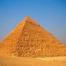 Pyramid of Khafre (Chephren) in Giza (Egypt)  by Petr Svarc