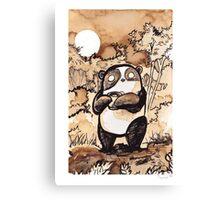 Coffee Panda Canvas Print