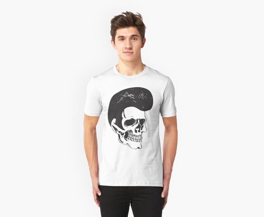 Rockabilly Skull by Karl Whitney