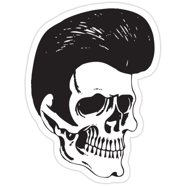 "Rockabilly Skull"" Stickers by Karl Whitney 
